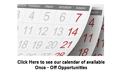 Click to see our Calendar of once off volunteering events